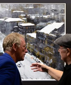 Denis Taylor and David Coulter discussing Art