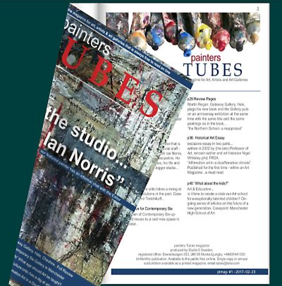 Painters TUBES Magazine issue number ONE