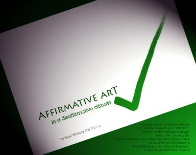 Affirmative Art Essay published by painters TUBES magazine