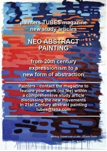 New Abstract Painting on painters TUBES