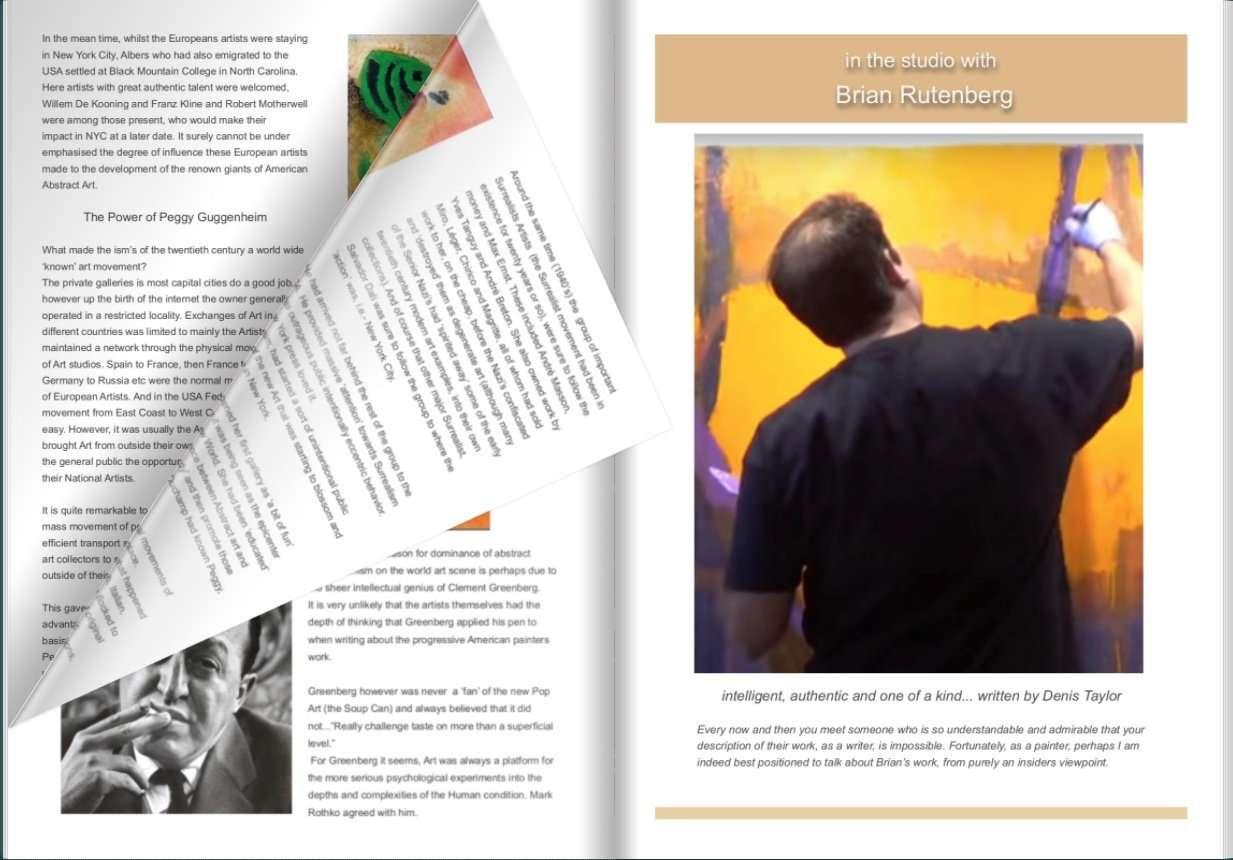 Get your Digital Copy here .painters TUBES - Brian Rutenberg in his studio