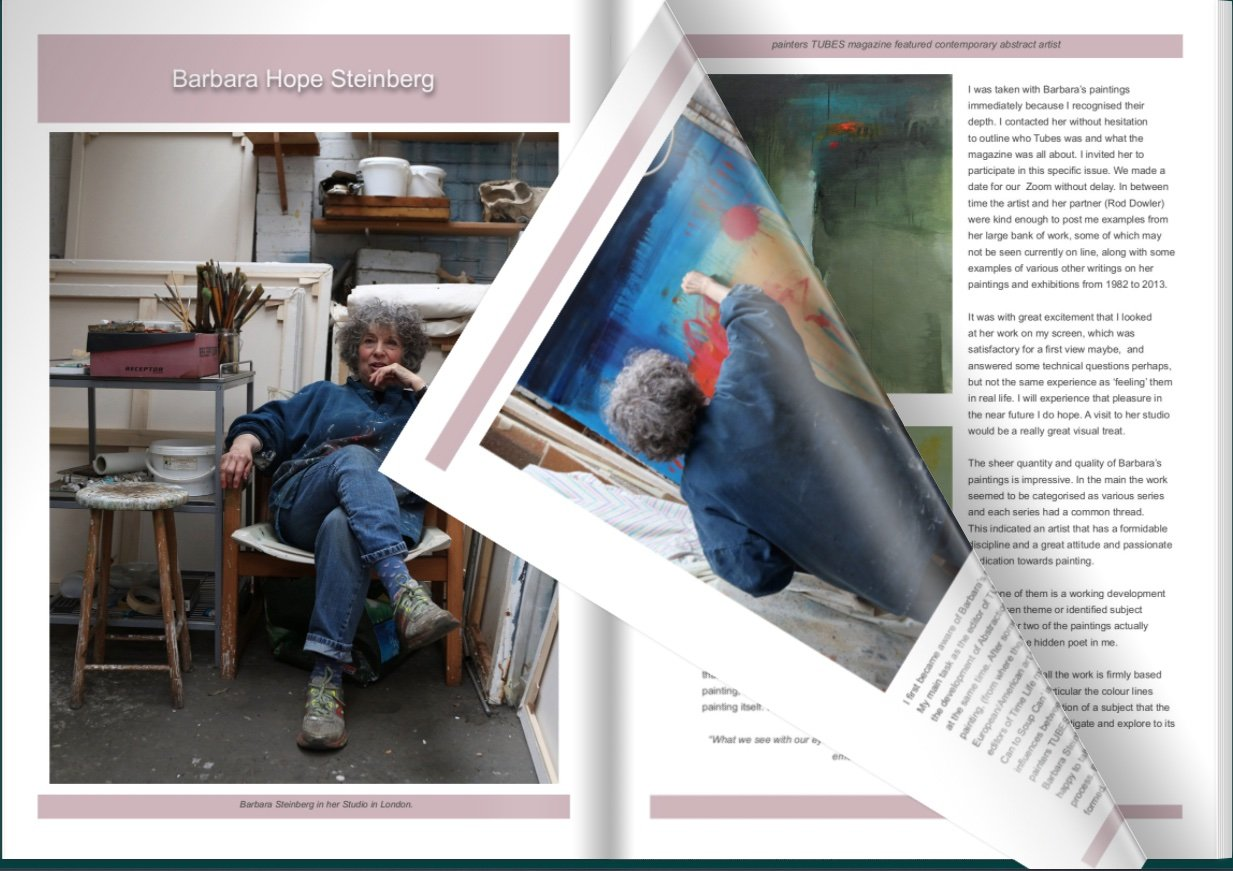 Get your Digital Copy here .painters TUBES - New article Ash Can to Soup Can- featuring Barbara Steinberg