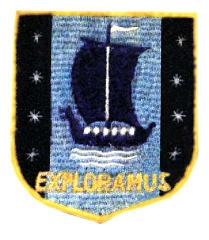 badge of the Manchester High School of Art UKExploramus badge