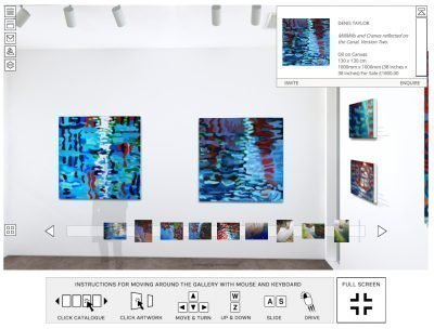 painters Tubes 3D VR Gallery