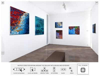 painters Tubes Gallery 3d VR exhibition
