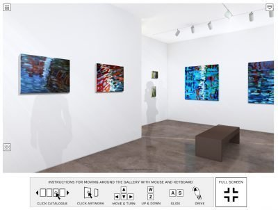 painters tubes gallery 3D VR exhibition canal paintings by Denis Taylor