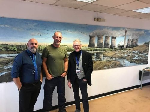 Denis Taylor Lee Harrison and Shaun Smyth- Art Project Fiddlers Ferry. -painters TUBES Fiddlers Ferry Project