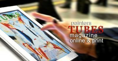 painters TUBES magazine read it on the train
